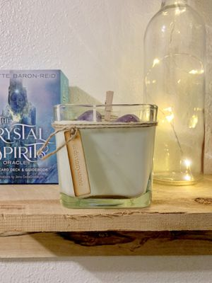 Amethyst & Citrine Raw Healing Crystal Organic Soy Candles for Sale in Arcadia, CA