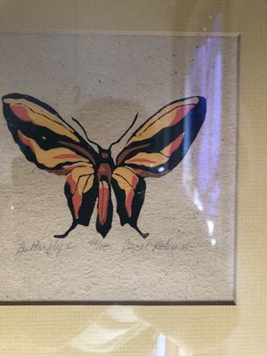 Beautiful hand-painted butterfly signed by the artist. for Sale in Dallas, TX
