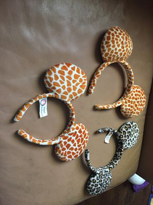 3 animal print Mickey Ears for Sale in Corona, CA