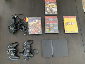 PS2 (slim) with Game Bundle for Sale in Los Angeles, CA