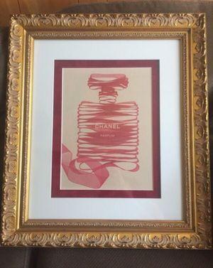 Chanel perfume framed print for Sale in El Cajon, CA