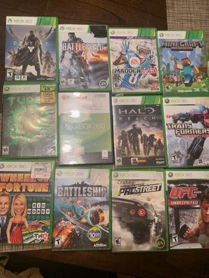 Xbox 360 games,200 for all or 13 for each for Sale in Houston, TX