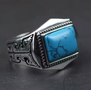 Genuine 925 Sterling Silver Ring For Men Inlaid Natural Stone for Sale in Wichita, KS