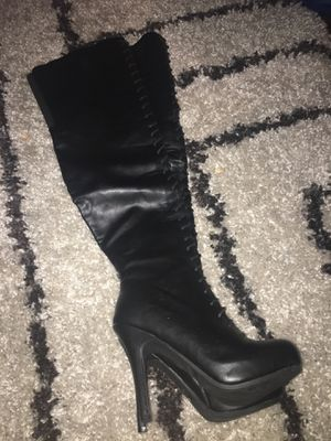 5 inch thigh high boots for Sale in Alexandria, VA