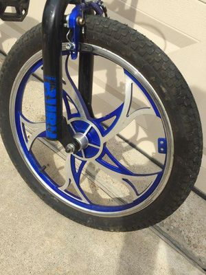 """20"""" alloy BMX Mag wheels , comes with nice tires / tubes ready use . Bike is also included for Sale in Wylie, TX"""