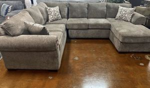 Large Cocoa Sectional Sofa Couch!!Brand New Free Delivery for Sale in Chicago, IL