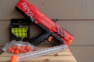 Red NERF gun with 30 special rounds and more for Sale in Oklahoma City, OK