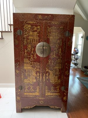 Antique Chinese Armoire for Sale in La Costa, CA