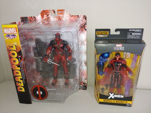 2 Action Figures - Marvel Legends Magneto & Deadpool Marvel Select Action Figures for Sale in Alexandria, VA