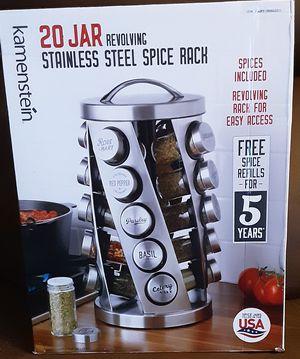 Kamenstein 20 Jar Stainless Steel Spice Rack for Sale in Federal Way, WA