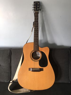 Sunlite acoustic guitar with pickup electric cutaway levy's strap ready for christmas for Sale in Lakewood, CA