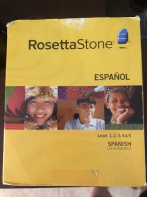 Rosetta Stone Spanish level 1-5 for Sale in Lutz, FL