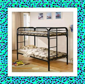 Twin over Twin bunkbed frame with Mattress for Sale in NEW CARROLLTN, MD