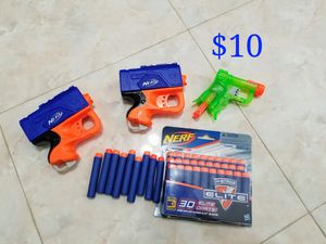 3 Nerf guns and 40 darts for kids for Sale in Henderson, NV