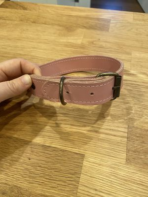 Handmade light pink leather dog collar for Sale in Oregon City, OR
