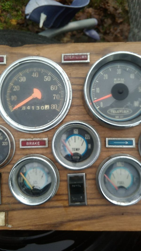Dash gauge's from a motorhome