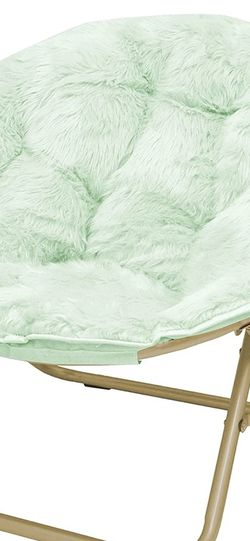 Urban Shop Faux Fur Saucer Chair with Metal Frame - Mint Green for Sale in Olympia,  WA