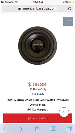 American bass 8inch subwoofer for Sale in Buckeye Lake, OH