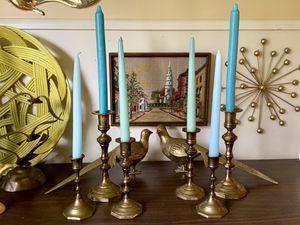 Vintage Solid Brass Candelabra X6 for Sale in North Bend, WA