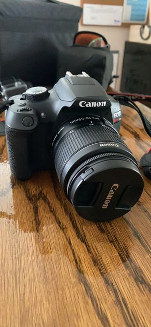 Canon Rebel T6 Camera with 75-300mm Zoom Lense and EFS 18-55mm Lense and Case for Sale in Mayville, WI