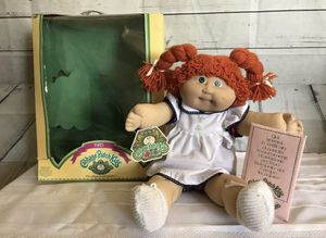 Vintage Colico 1985 Box Red Hair Jesmar Cabbage Patch Doll Spain Adoption Papers for Sale in Las Vegas, NV