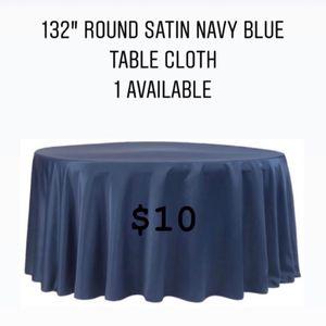 """132"""" Round Table Cloth for Sale in Cranston, RI"""