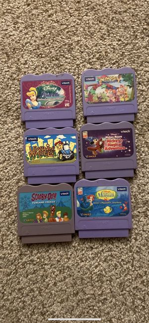 Lot of 6!Vtech V.Smile Learning System Game Cartridges - for Sale in Rancho Cucamonga, CA