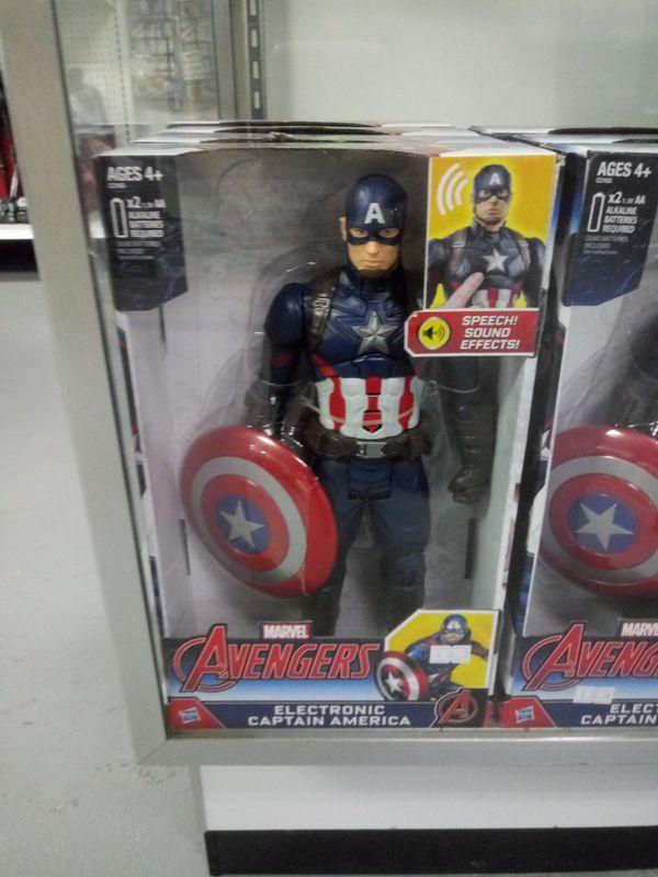 New electronic captain america figure