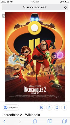 Incredibles 2 dvd for Sale in Bonne Terre, MO