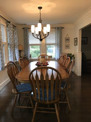 Oak table and chairs for Sale in Forked River, NJ