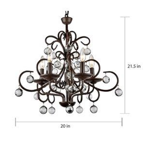 Pottery Barn Bellora chandelier - dining room light for Sale in Olympia, WA