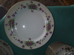 Antique china plate eating set. Went Worth china - Viola pattern for Sale in Bloomington, CA