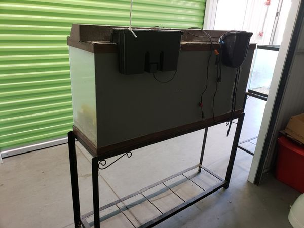 2 fish tanks with stand and accessories