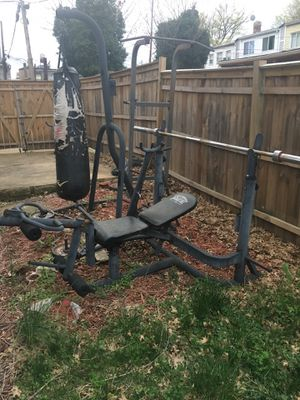 Weight bench and Punch Bag for Sale in Washington, DC