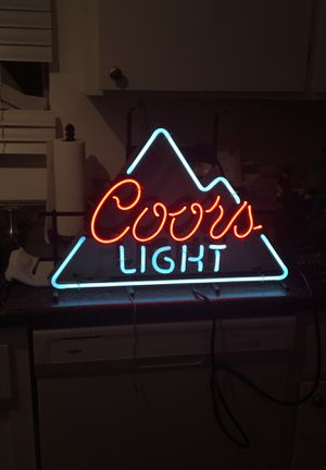 Coors Light Neon Beer Sign for Sale in Modesto, CA
