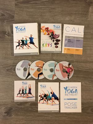 3 Week Yoga Retreat (5 DVD Set) with Book, Poster Etc for Sale in Orange, CA