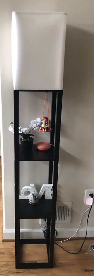 2 lamps with shelf for sale for Sale in Chantilly, VA