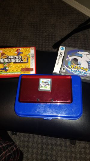 Nintendo 3ds Original + 2 DS Games (used) + 1 3DS game (New) for Sale in Mukilteo, WA