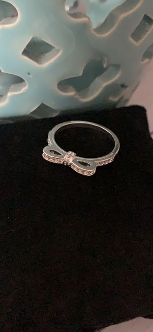 White gold plated bow ring for Sale in Lake in the Hills, IL