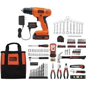 BLACK+DECKER 20-Volt Lithium-Ion Cordless Drill-Driver With 128-Piece Project Kit, LD120128PKWM 29b for Sale in Norcross, GA