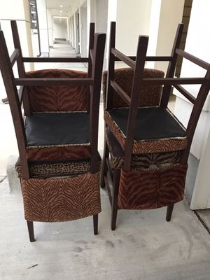 4 Stools Animal Print LIKE NEW for Sale in Coppell, TX