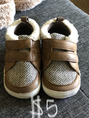 Baby toddler shoes size 4 or size 12 months crib shoes for Sale in San Dimas, CA