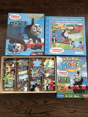 Thomas the Train board game, matching game and puzzles for Sale in Chula Vista, CA