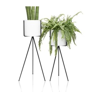 BIRD White Planter Pots & Flower Pot With Metal Tripod Stand Set 2 for Sale in Avondale, AZ