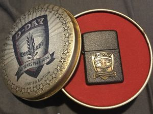 Like new Zippo D-day 50th Anniversary commemorative edition Collectable lighter. for Sale in Round Rock, TX