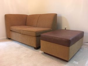Couch and side table / footrest for Sale in Potomac Falls, VA