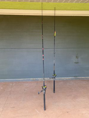 Fishing rod and reel 2 bait runner 6500 plus and silstar and spinmaster rod good condition for both $180 for Sale in Port St. Lucie, FL
