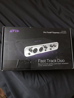 Avid Fast Track Duo Unopened and includes Pro Tools Express Software for Sale in Vacaville, CA