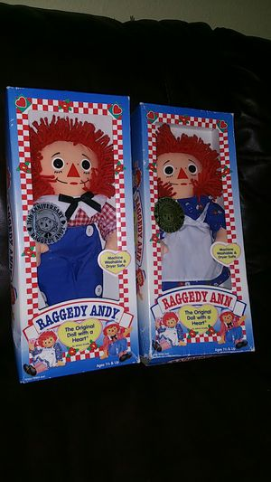 "Hasbro 12"" Raggedy Ann & Andy Plush Dolls for Sale in Union City, CA"