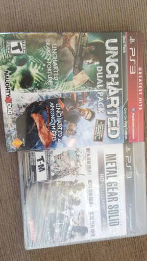 PS3 -METAL GEAR SOLID COLLECTION AND UNCHARTED DUAL PACK NEW SEALED for Sale in Lakeland, FL